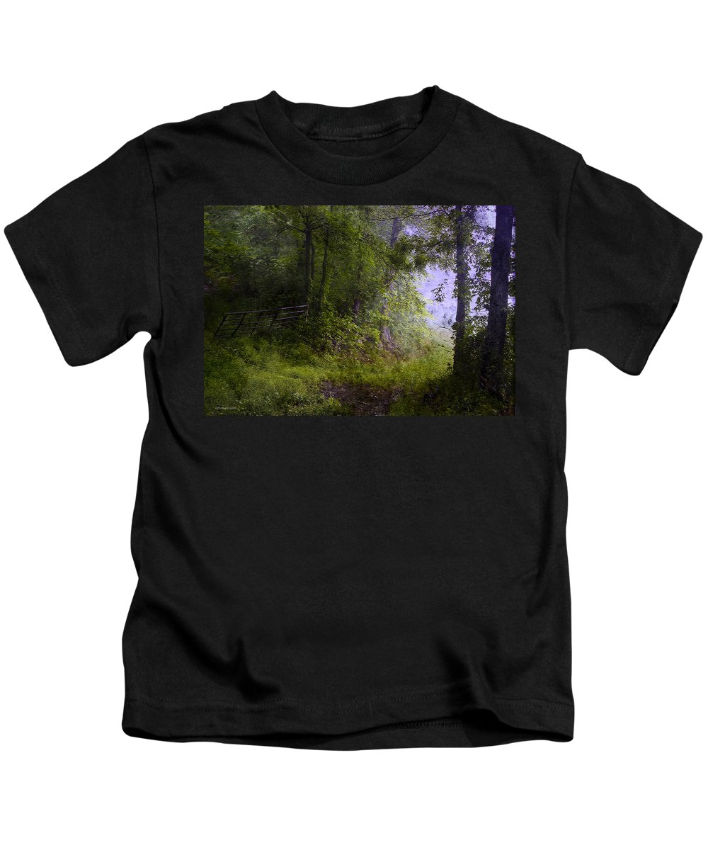 Summer Kids T-Shirt featuring the photograph The Road Less Traveled by Ron Jones