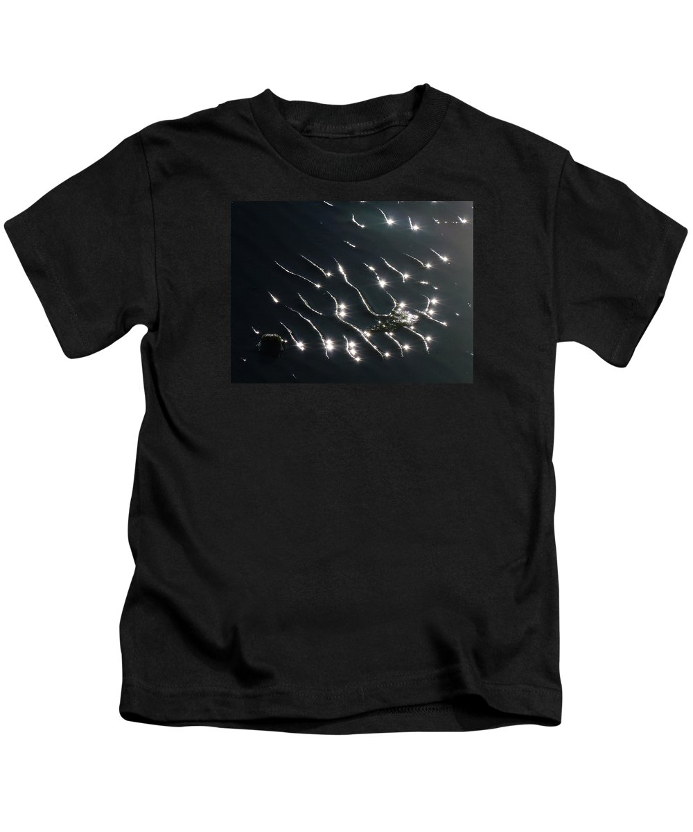 Catenary Ripples Kids T-Shirt featuring the photograph The Sparkling Ripples by Steve Taylor