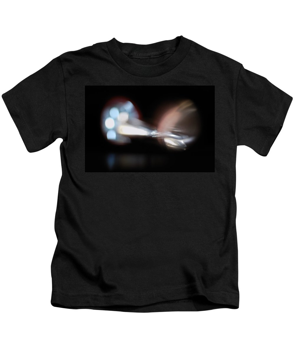 Abstract Kids T-Shirt featuring the photograph The Speed Of Light by Susan Capuano