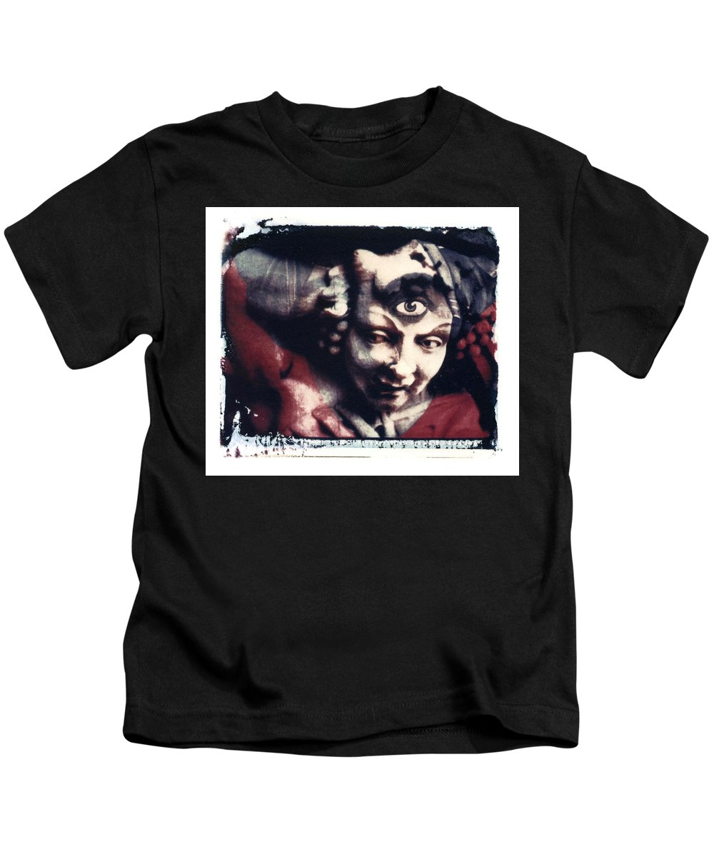 Polaroid Transfer Kids T-Shirt featuring the photograph The Third Eye Polaroid transfer by Jane Linders