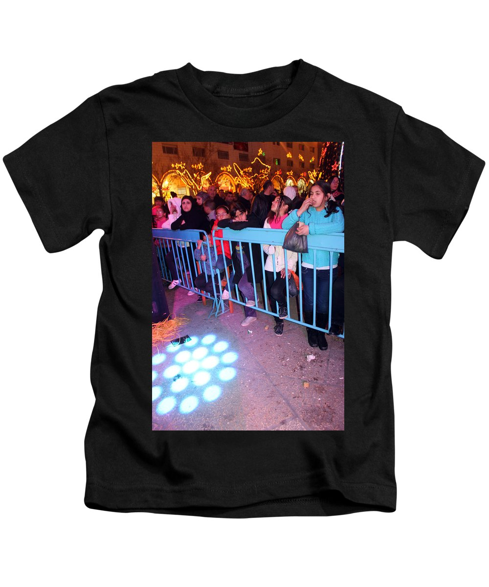 Audience Kids T-Shirt featuring the photograph The Waiting Audience by Munir Alawi