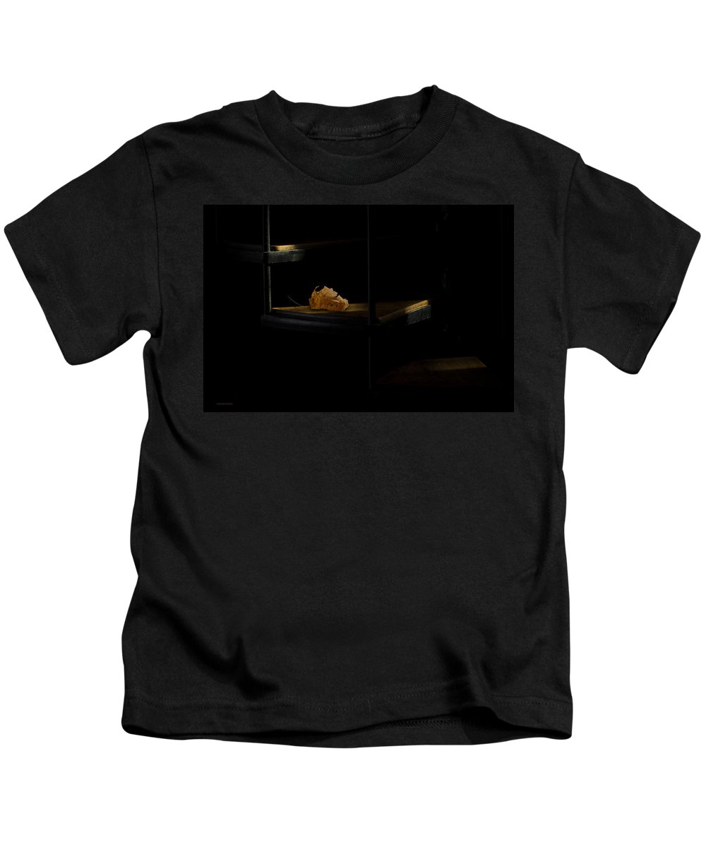 Leaf Kids T-Shirt featuring the photograph The Withered Leaf by Ron Jones