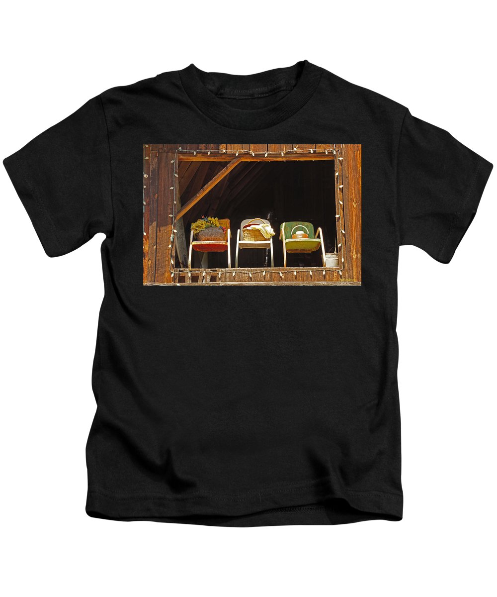 Three Kids T-Shirt featuring the photograph Three Chairs With A View by Mick Anderson