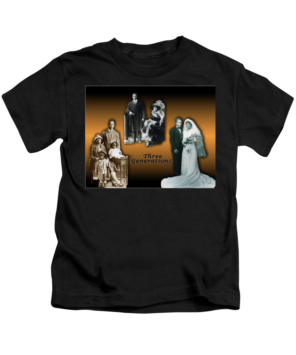 Family Kids T-Shirt featuring the digital art Three Generations by Terry Wallace