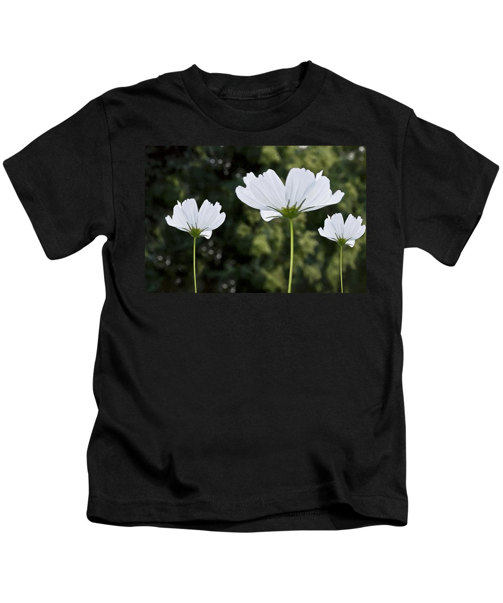 Wildflower Kids T-Shirt featuring the photograph Three Wildflowers by Angelina Vick