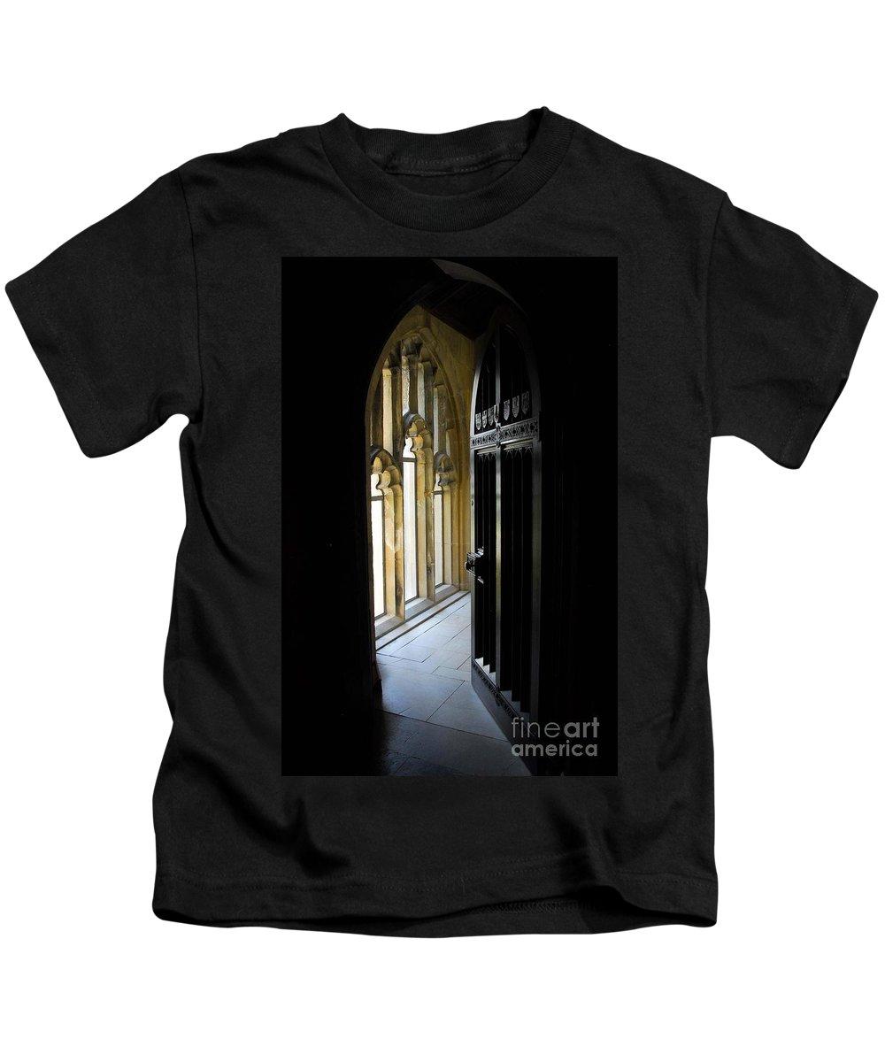 Doors Kids T-Shirt featuring the photograph Thru The Chapel Door by Cindy Manero