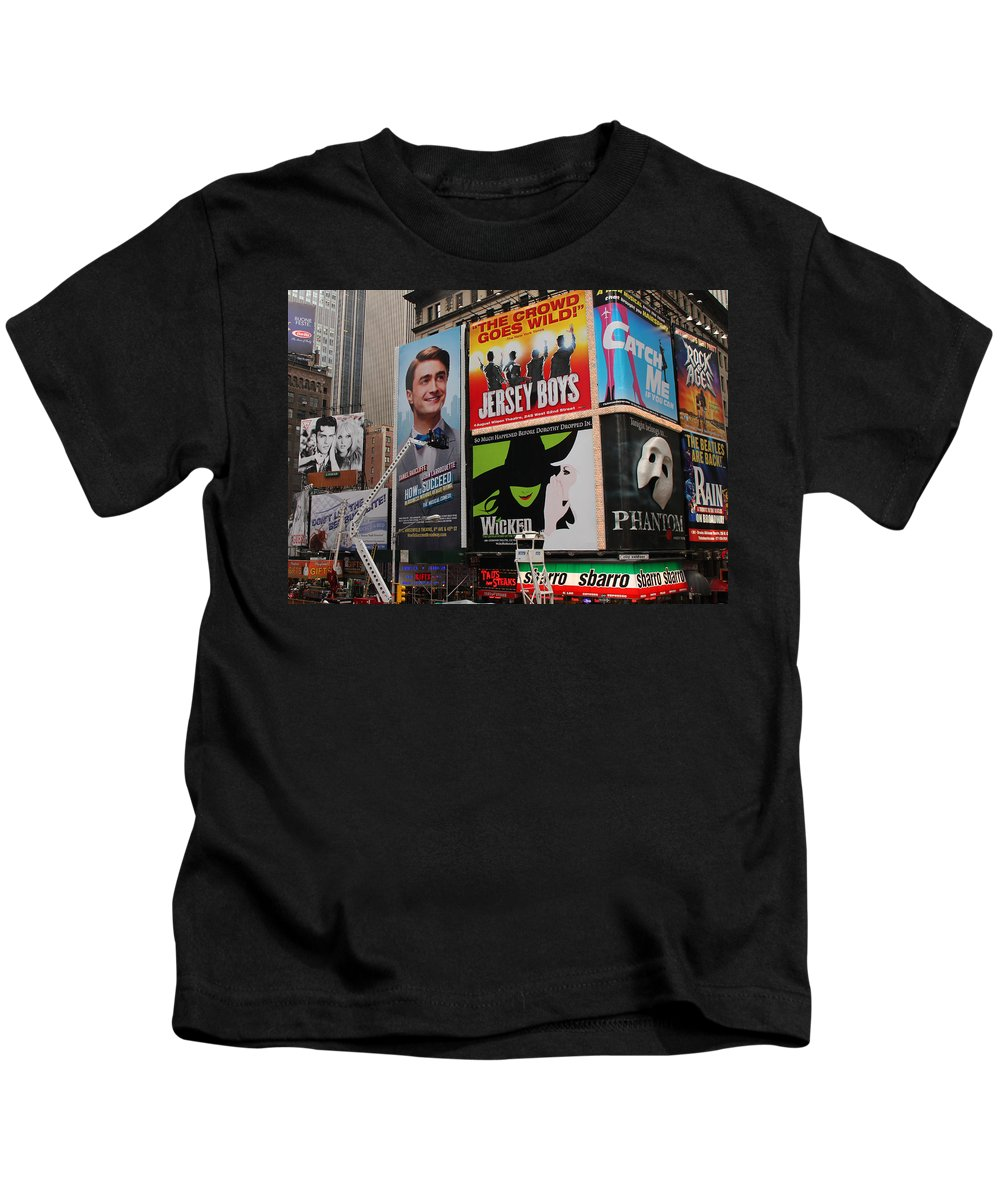 Broadway Kids T-Shirt featuring the photograph Times Square 7 by Andrew Fare