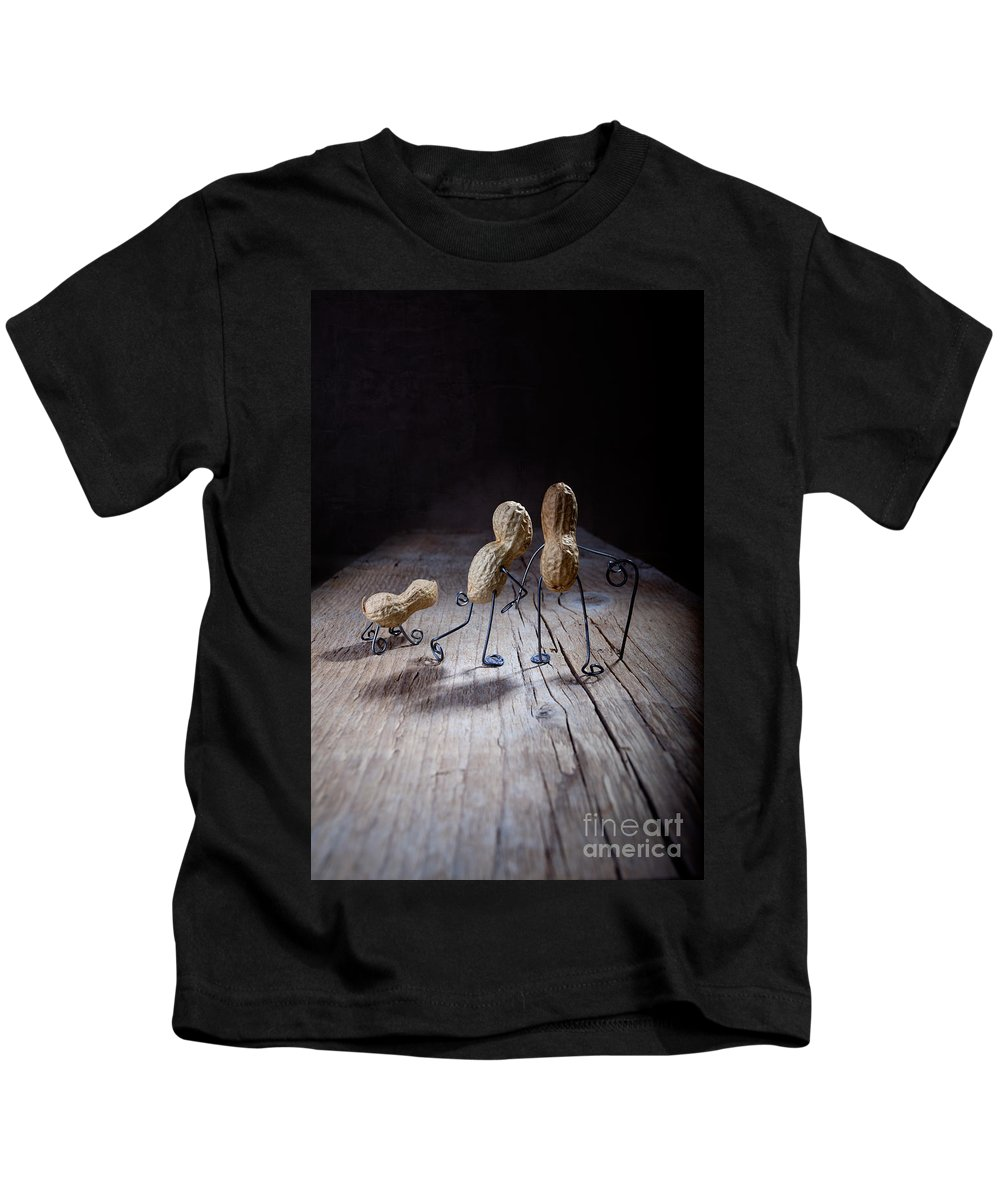 Peanut Kids T-Shirt featuring the photograph Together 04 by Nailia Schwarz