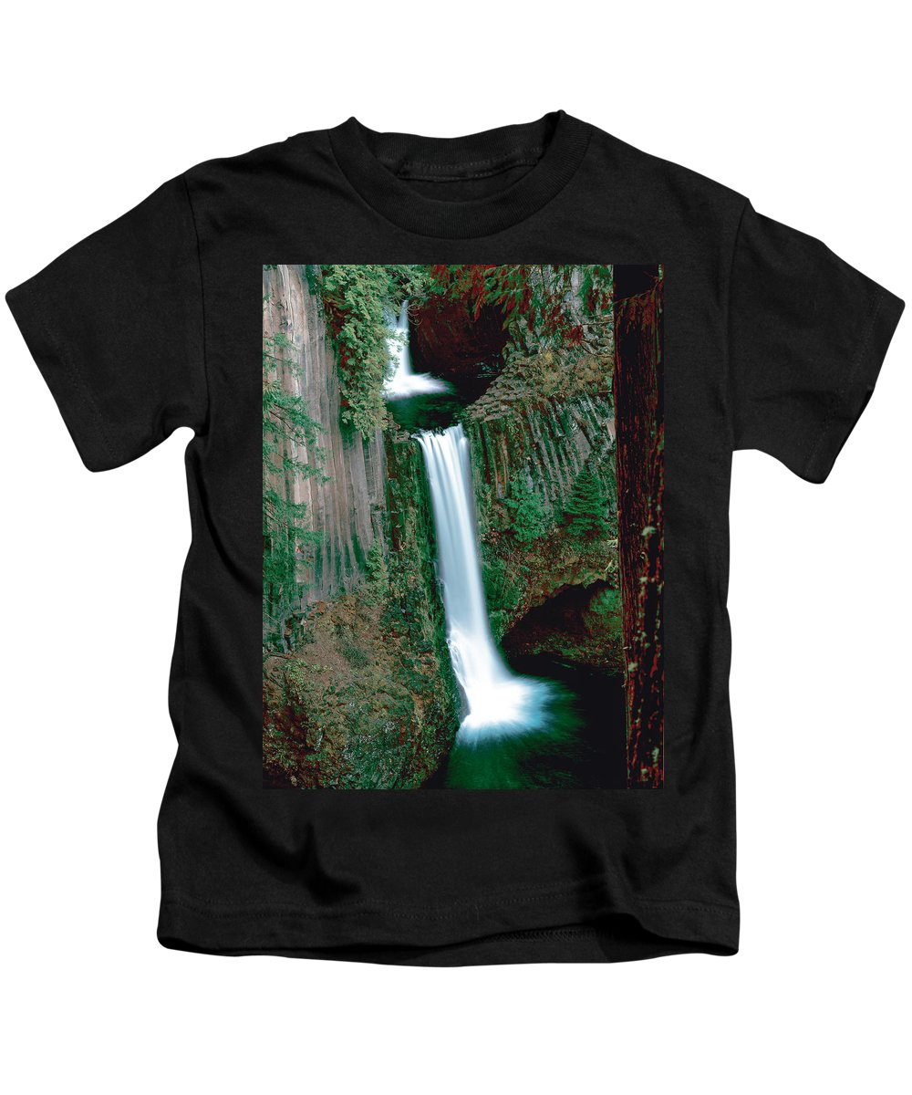 Waterfall Kids T-Shirt featuring the photograph Toketee Falls by Mike Penney