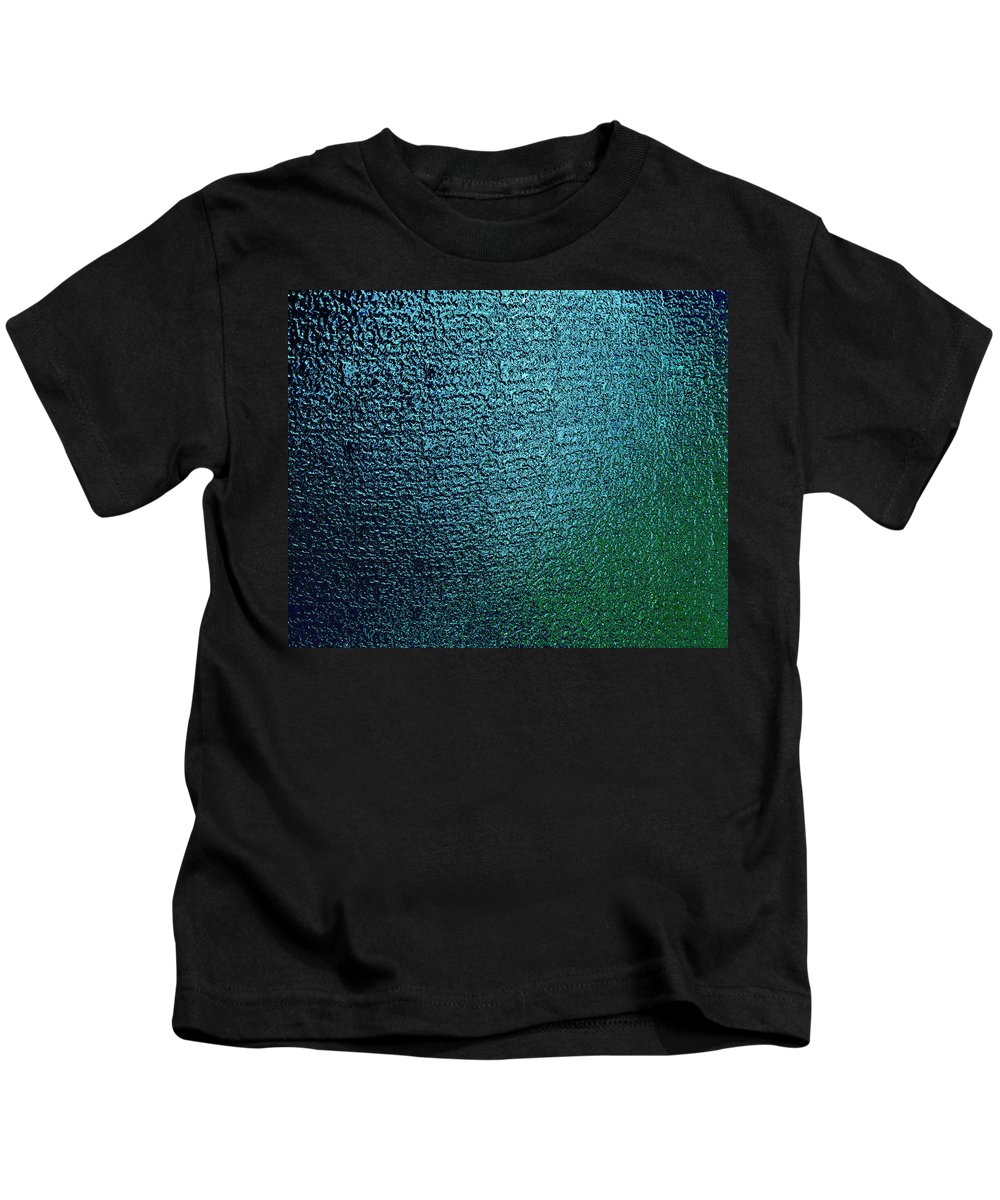 Matelic .blue Green.texture Kids T-Shirt featuring the digital art Touch by Gary Yates