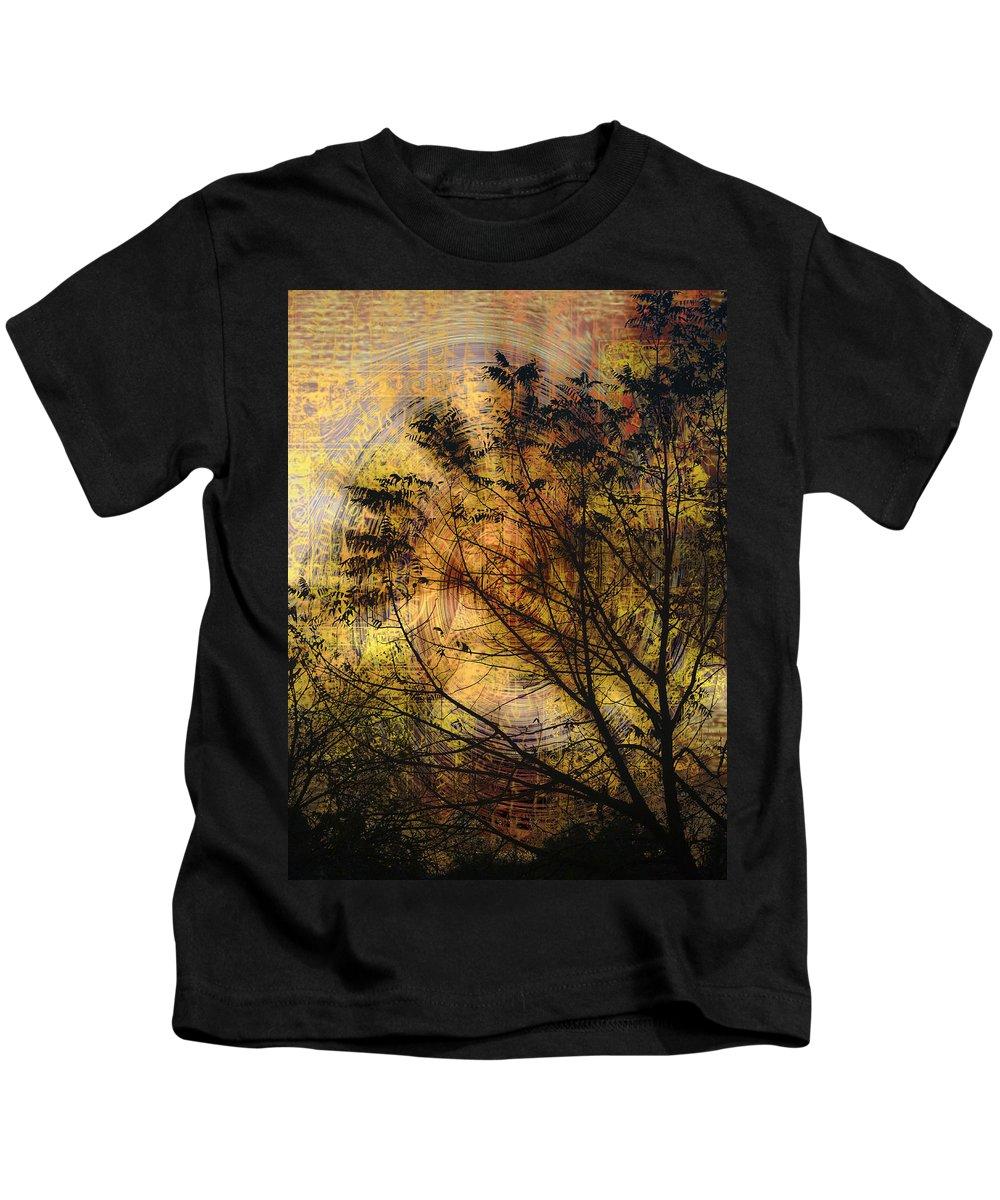 Fog Kids T-Shirt featuring the photograph Tree Stamp by Karen W Meyer