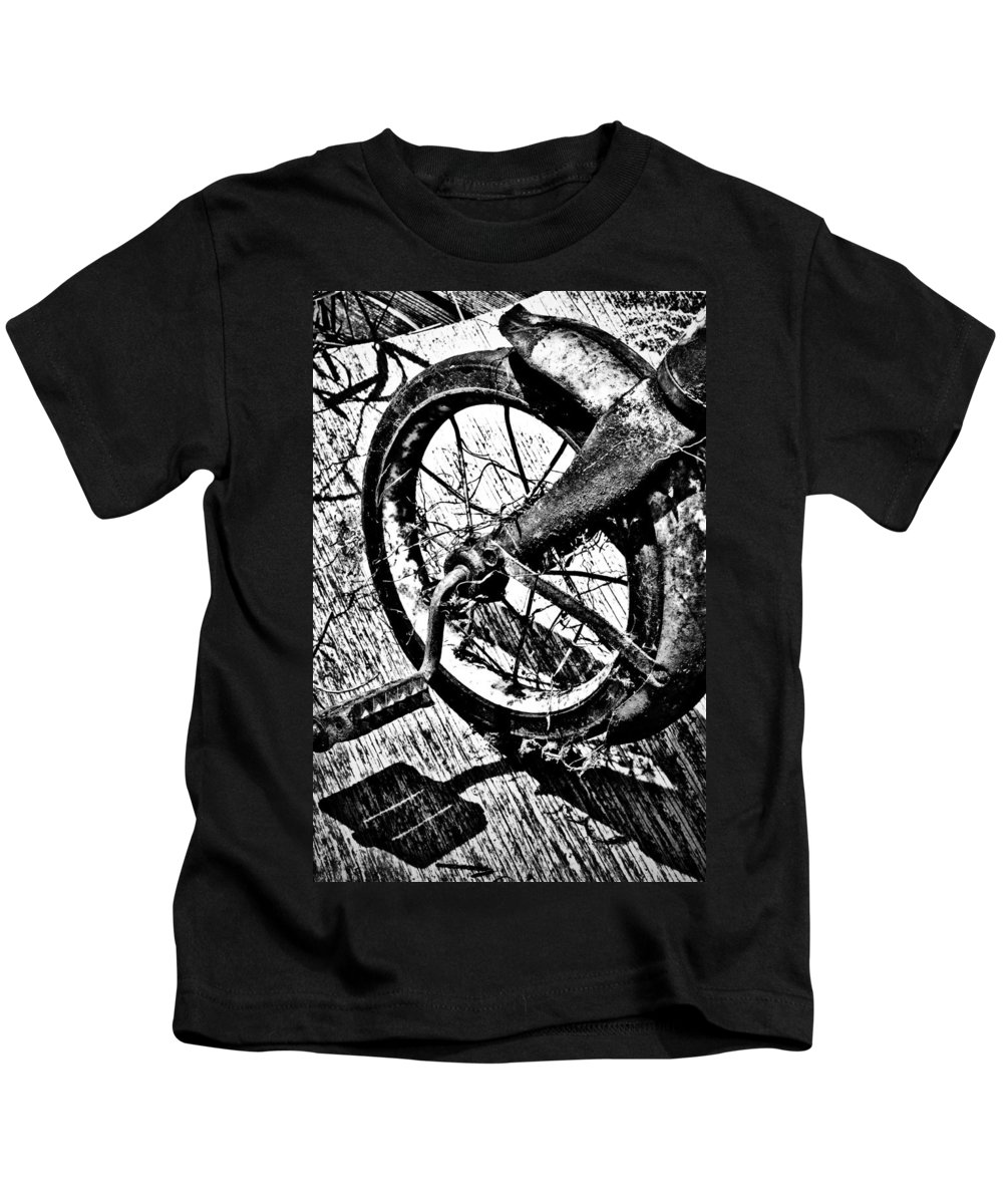 Street Photographer Kids T-Shirt featuring the photograph Tricycle by The Artist Project