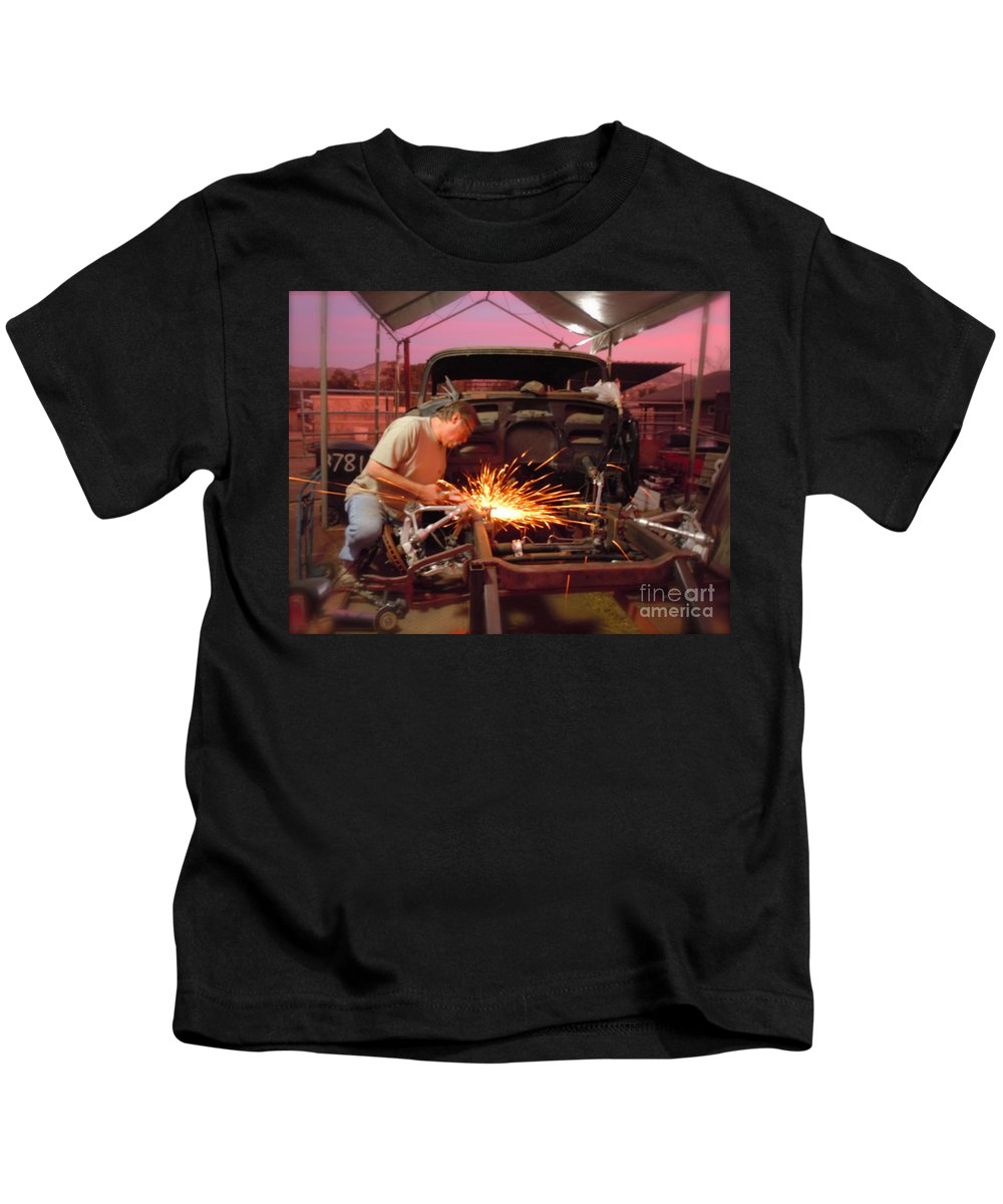 1955 Kids T-Shirt featuring the photograph True Love by Customikes Fun Photography and Film Aka K Mikael Wallin