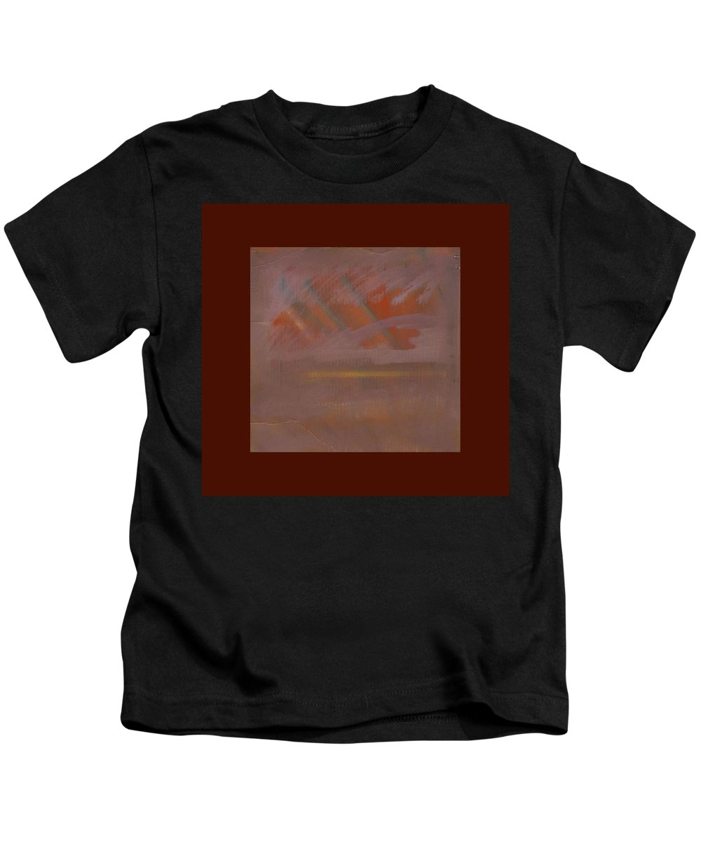 Tsunami Kids T-Shirt featuring the painting Tsunami Morning by Charles Stuart