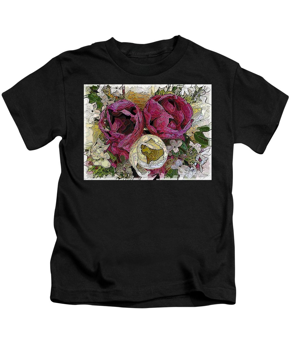 Tulip Kids T-Shirt featuring the digital art Tulips To You by Tim Allen