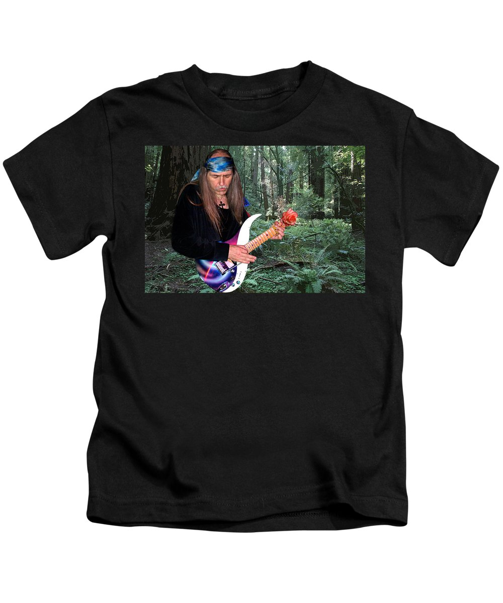 Uli Jon Roth Kids T-Shirt featuring the photograph Uli Jon Roth At Muir Woods by Ben Upham III