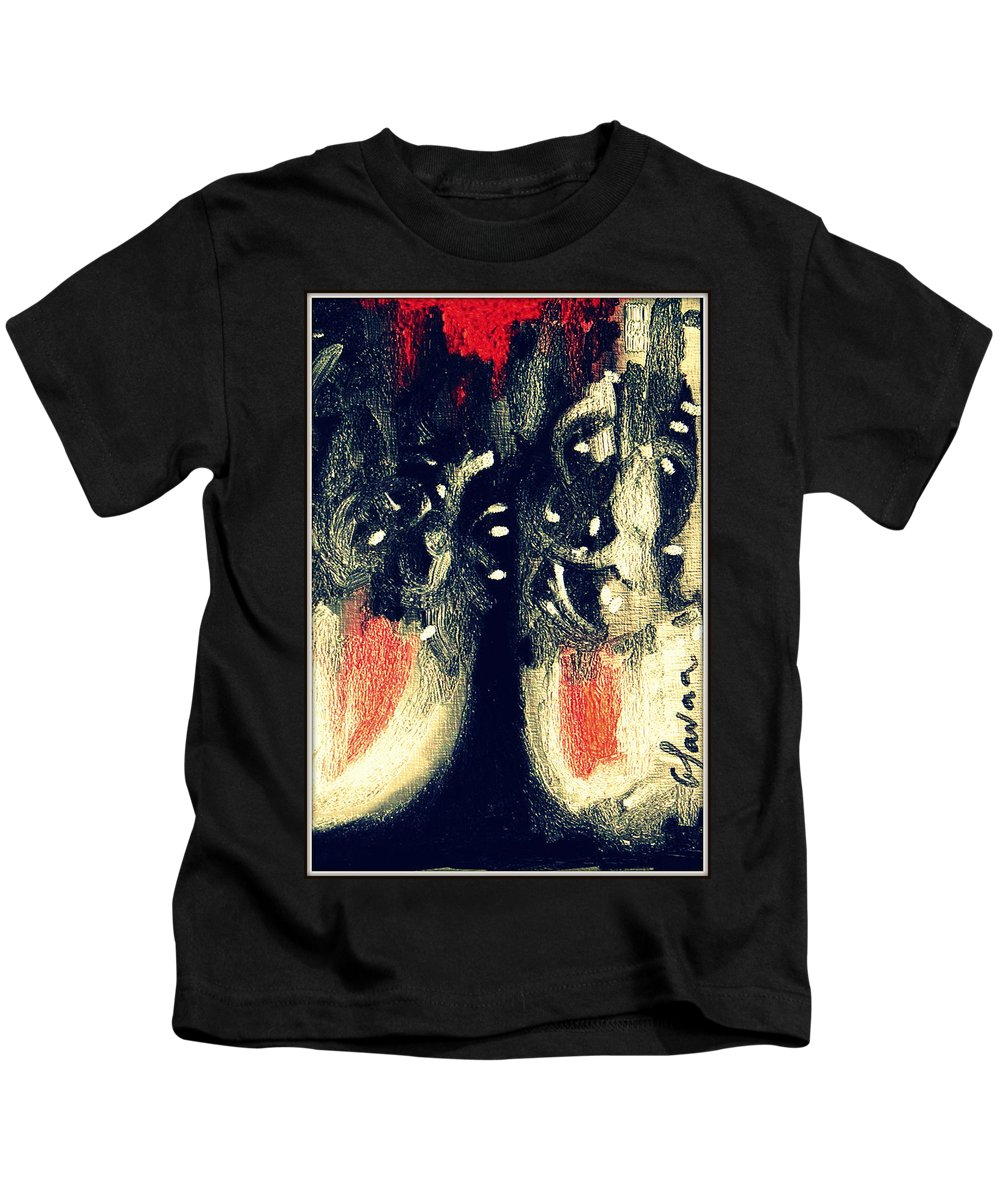 Digital Abstract Art Kids T-Shirt featuring the digital art Untitled by Glaucia Luz