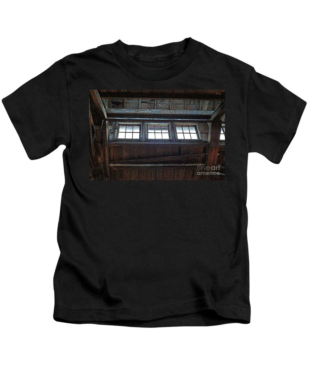 Windows Kids T-Shirt featuring the photograph Upper Windows by Randy Harris