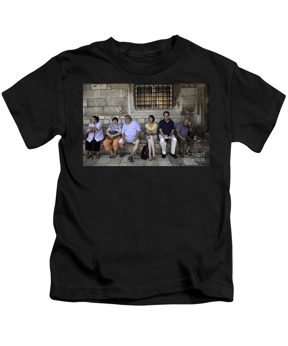 Vacation Kids T-Shirt featuring the photograph Vacation In Venice by Madeline Ellis