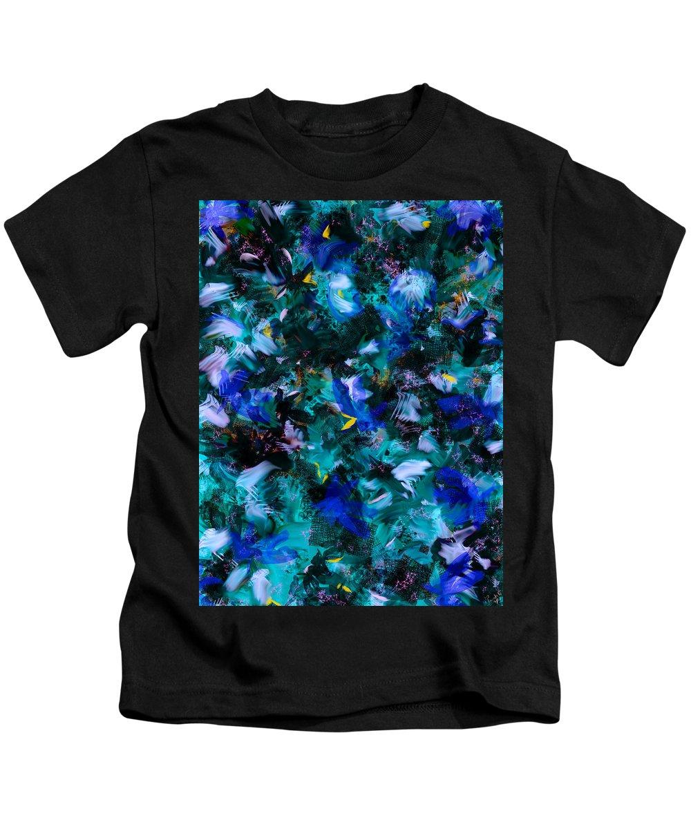 Abstract Kids T-Shirt featuring the digital art Vague by Mathieu Lalonde