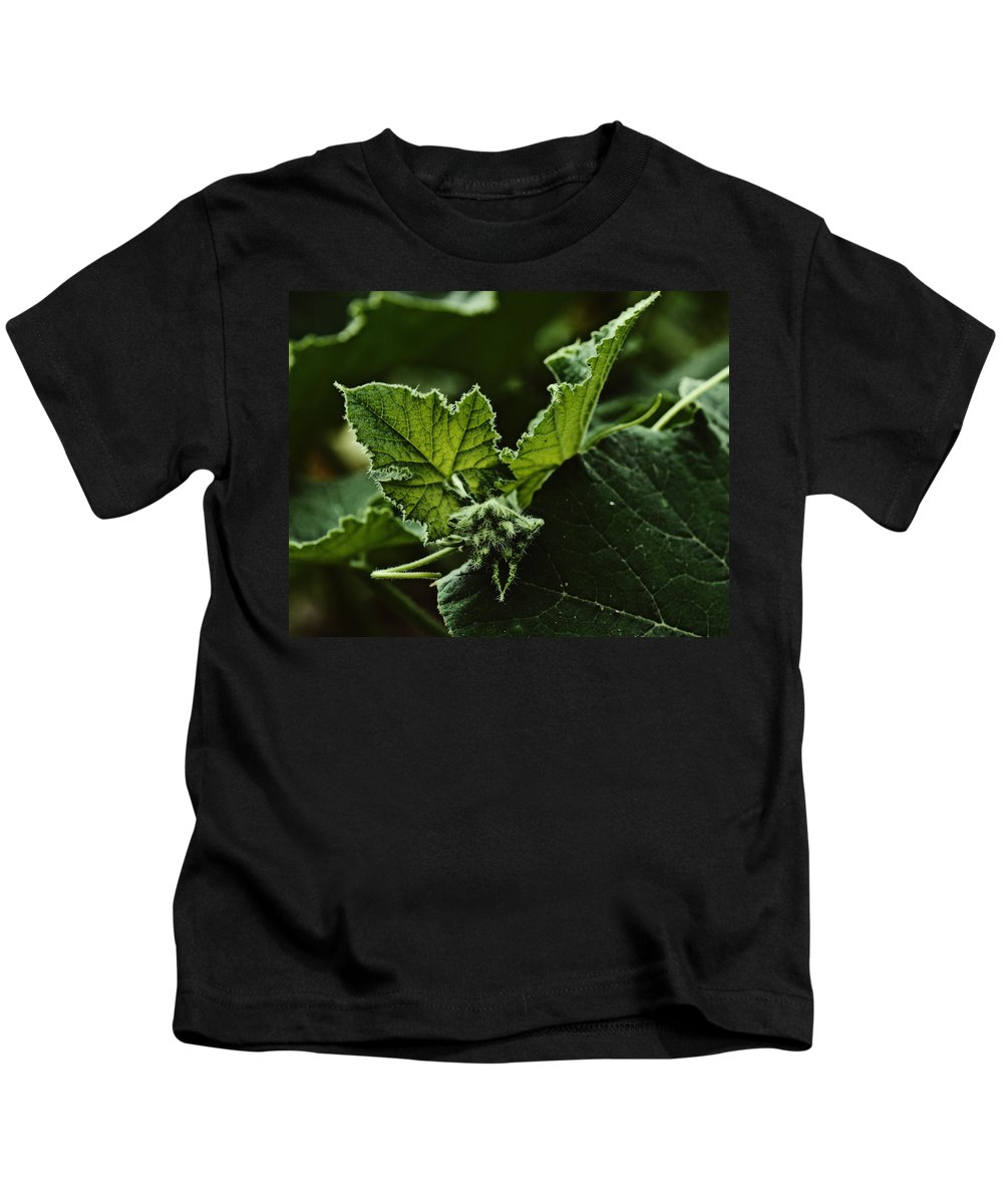 Dragon Kids T-Shirt featuring the photograph Vegetative Dragon by Susan Capuano