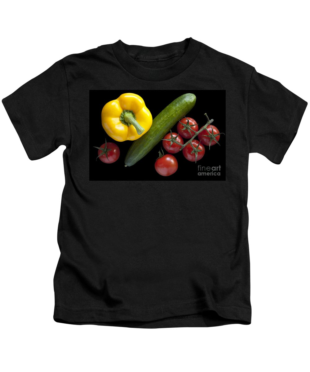 Nature Kids T-Shirt featuring the photograph Veggie Composition by Heiko Koehrer-Wagner