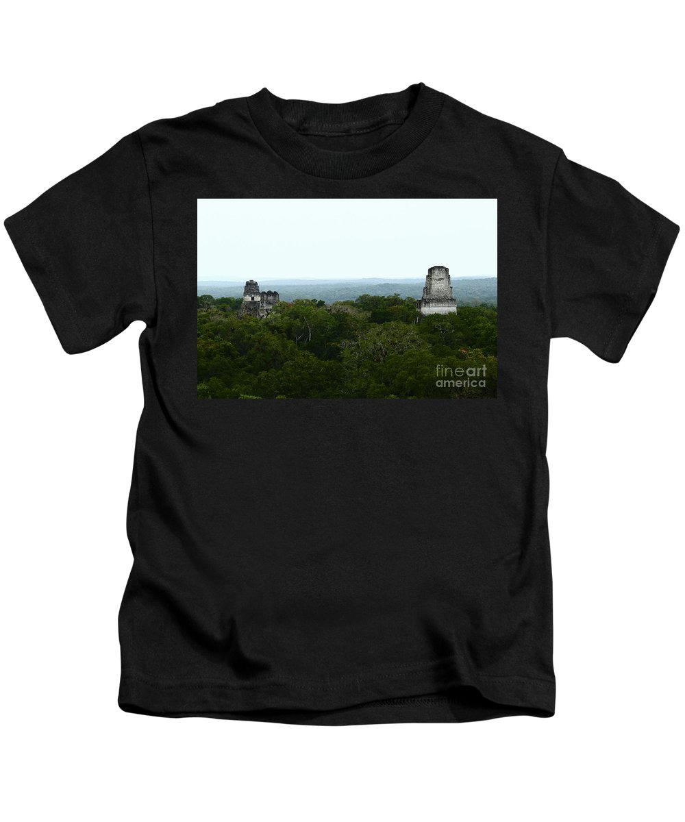 Guatemala Kids T-Shirt featuring the photograph View From The Top Of The World by Kathy McClure