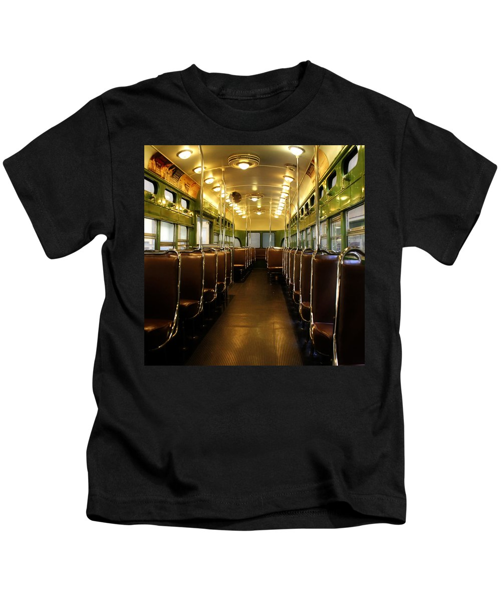 Trolley Kids T-Shirt featuring the photograph Vintage Trolley 7 by Andrew Fare