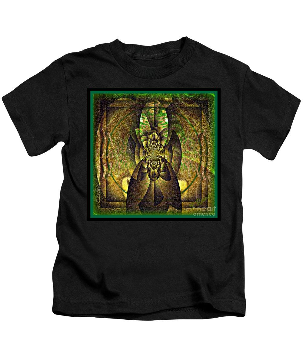 Digital Kids T-Shirt featuring the digital art Visitor by Leslie Revels
