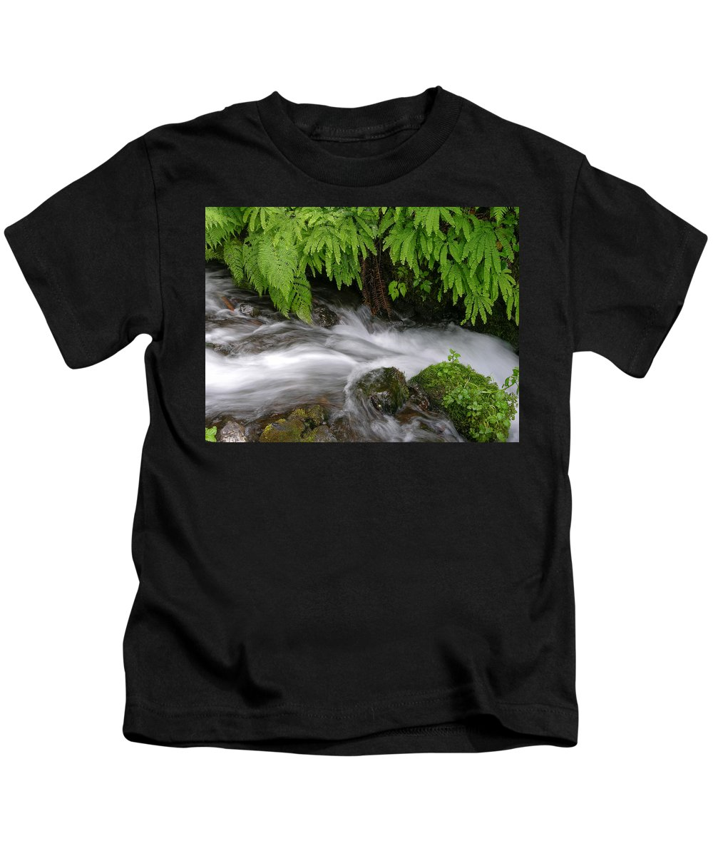 Wahkeena Falls Kids T-Shirt featuring the photograph Wahkeena Falls One by Mike Penney