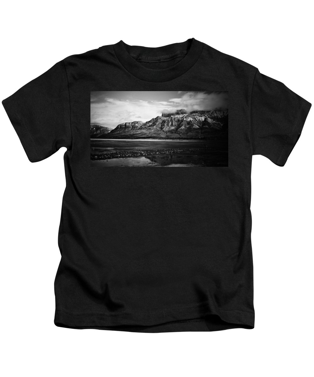 Street Photography Photographs Framed Prints Photographs Framed Prints Kids T-Shirt featuring the photograph Waiting For Ansel by The Artist Project