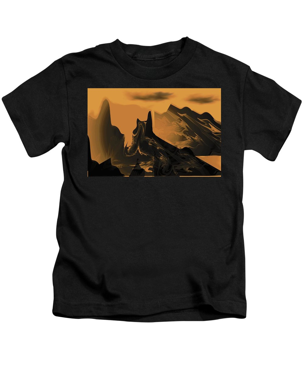 Wastelands Kids T-Shirt featuring the digital art Wastelands by Maria Urso