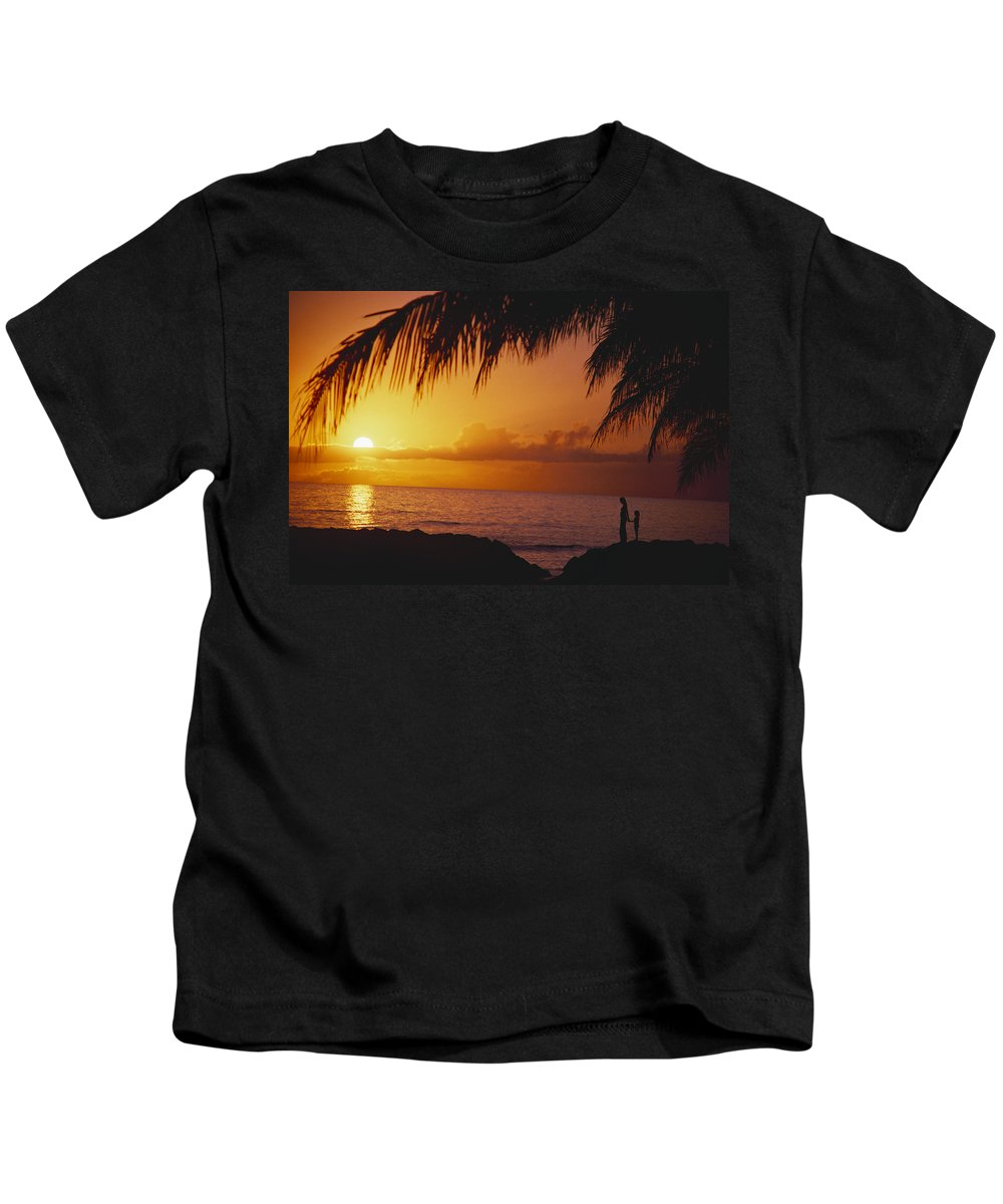 Afternoon Kids T-Shirt featuring the photograph Watching The Sunset by Dana Edmunds - Printscapes