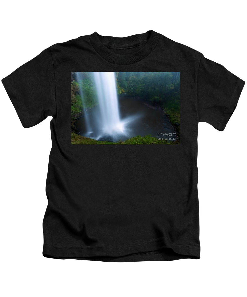 North Falls Kids T-Shirt featuring the photograph Water Stream by Adam Jewell