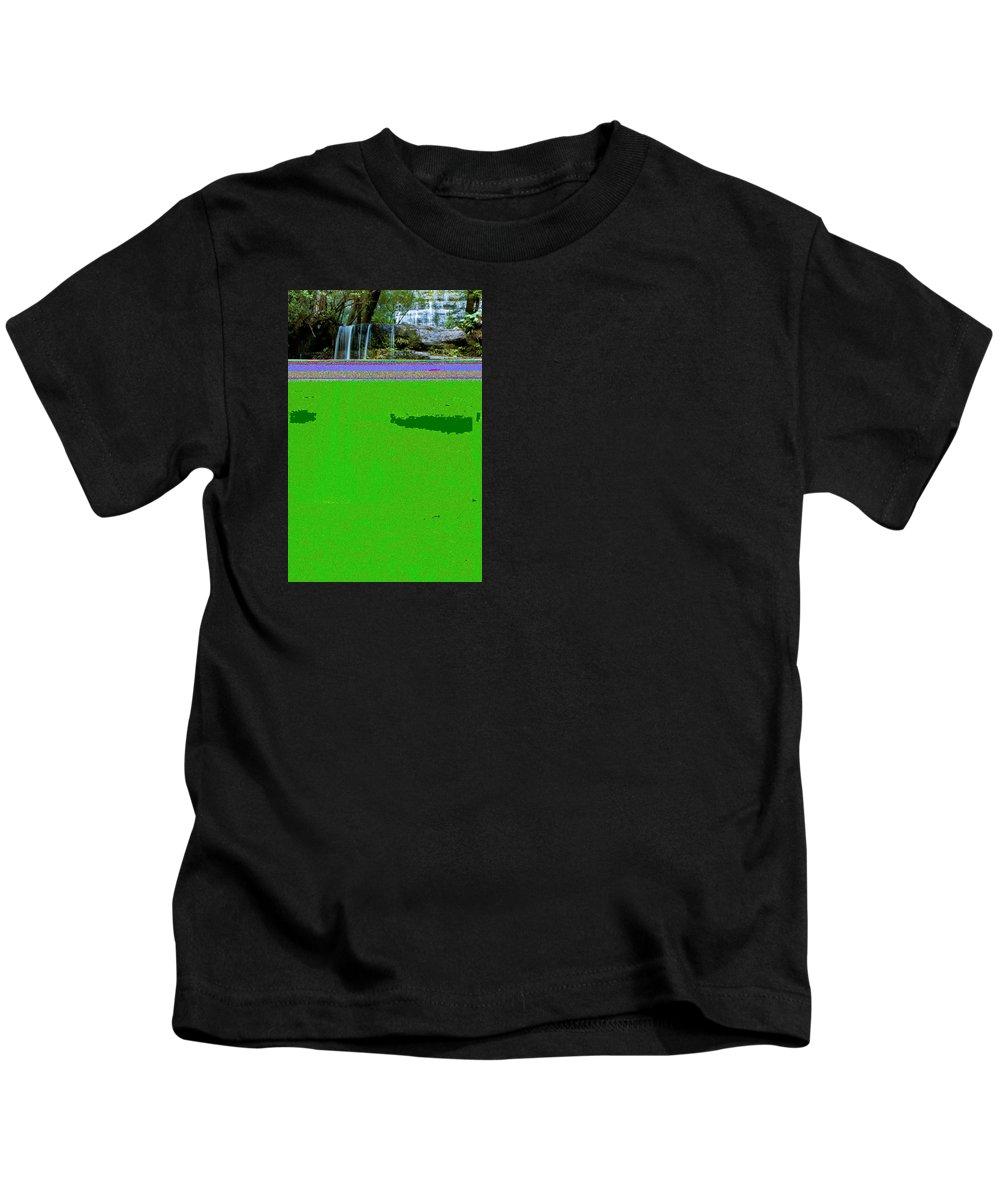 Adventure Kids T-Shirt featuring the photograph Waterfall In Deep Forest by U Schade