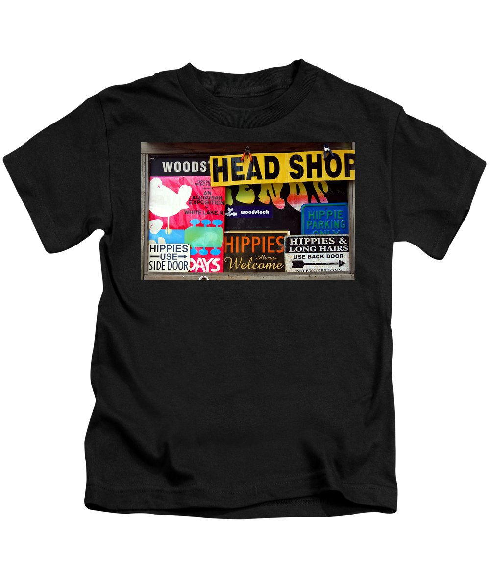Head Shop Kids T-Shirt featuring the photograph Welcome Hippies by Guy Harnett