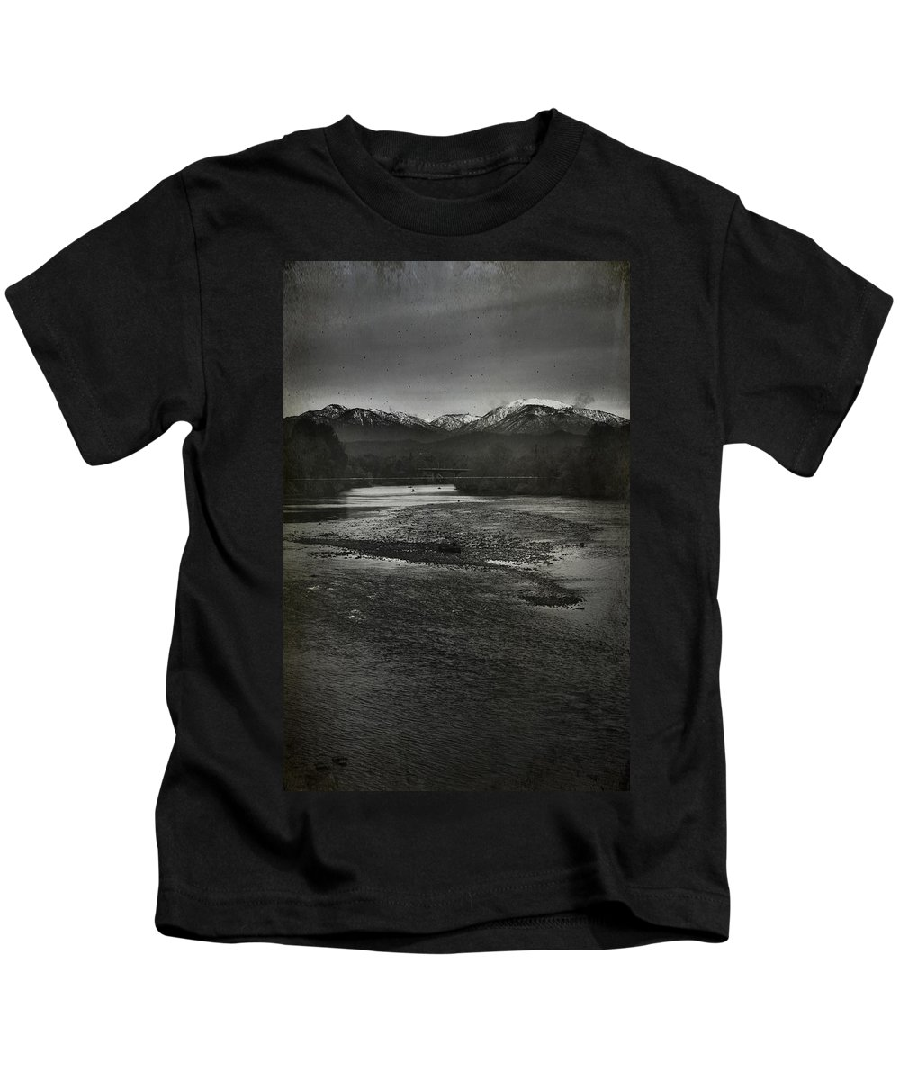 Sacramento River Kids T-Shirt featuring the photograph We're Not The Same by Laurie Search