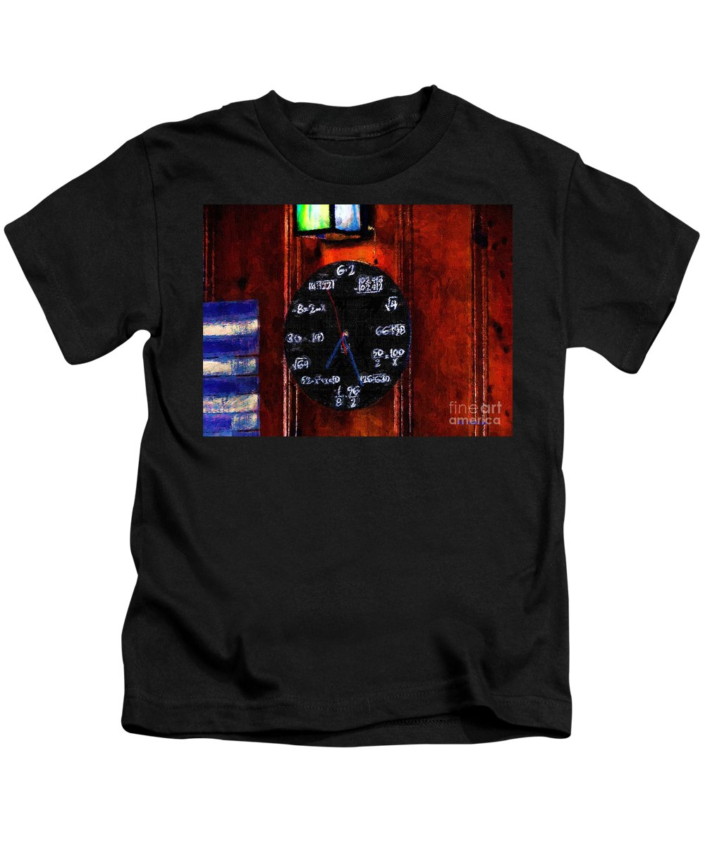 Clock Kids T-Shirt featuring the painting What Time Is It by RC DeWinter