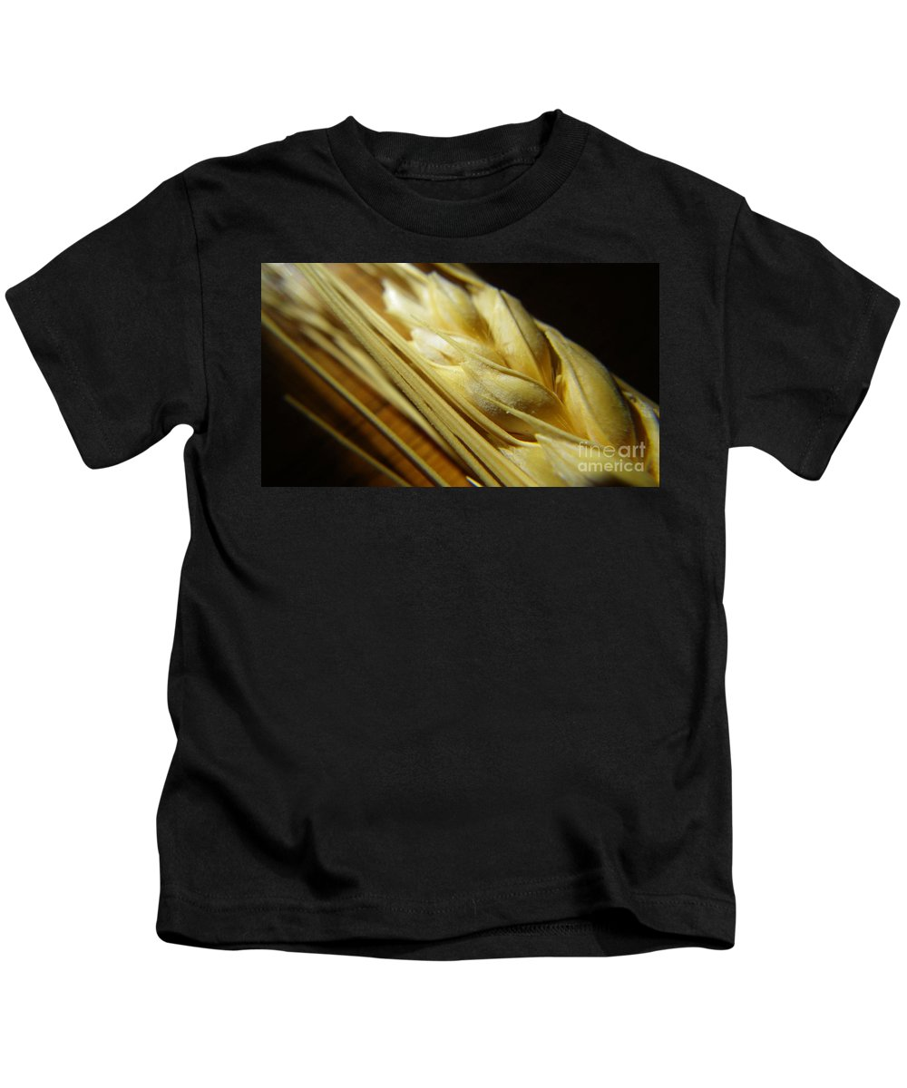 Wheat Kids T-Shirt featuring the photograph Wheatberries by Anjanette Douglas