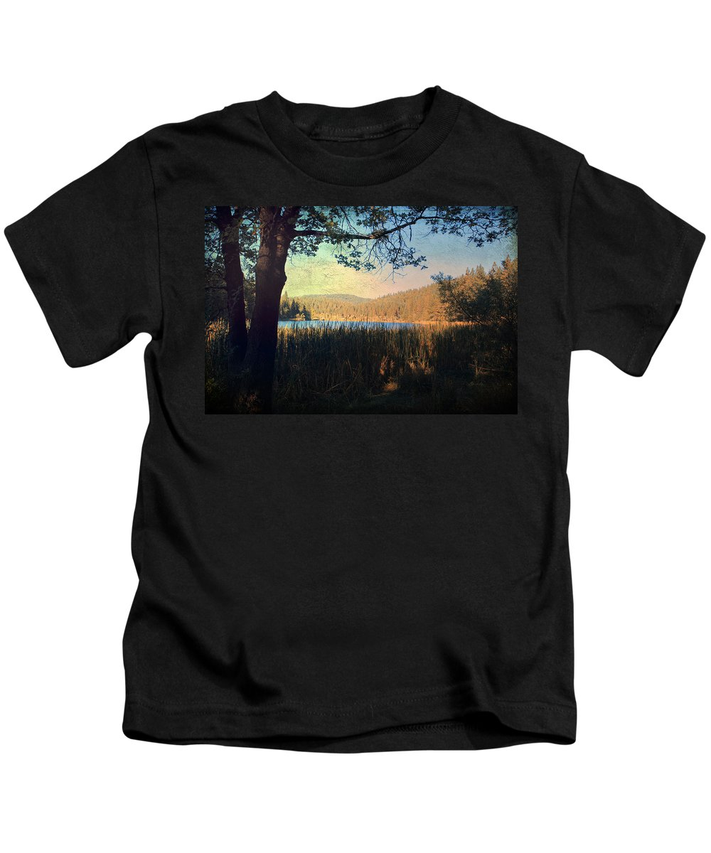 Landscapes Kids T-Shirt featuring the photograph When I'm In Your Arms by Laurie Search