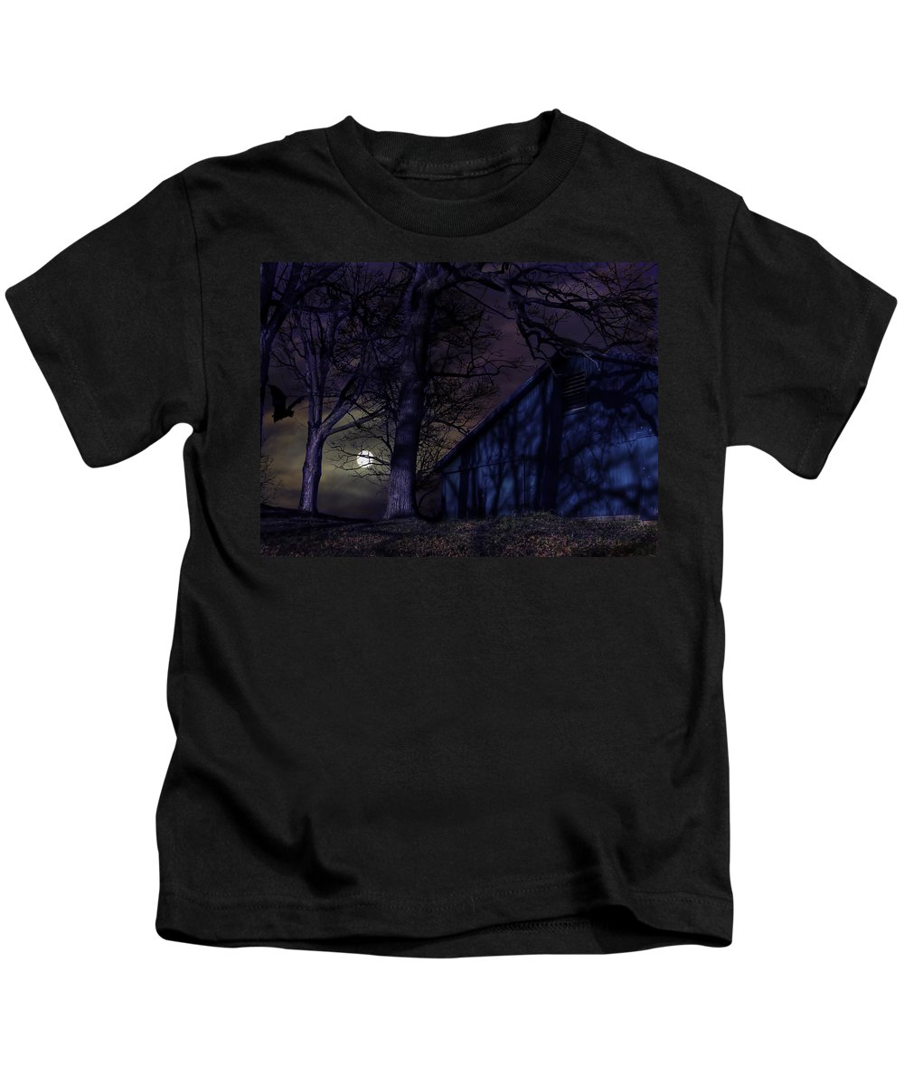 Xdop Kids T-Shirt featuring the photograph While We Sleep by John Herzog