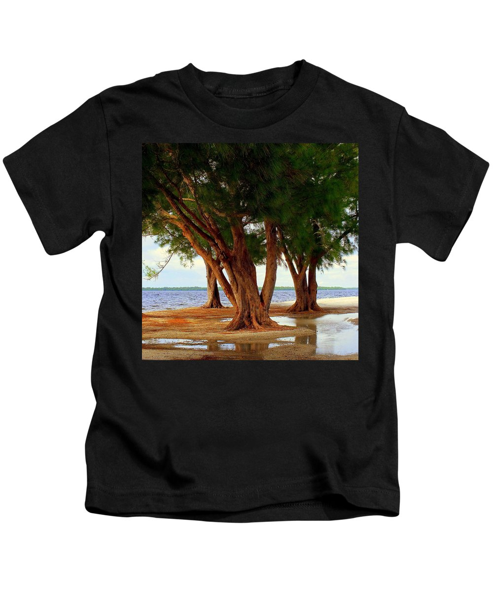 Landscapes Kids T-Shirt featuring the photograph Whispering Trees Of Sanibel by Karen Wiles
