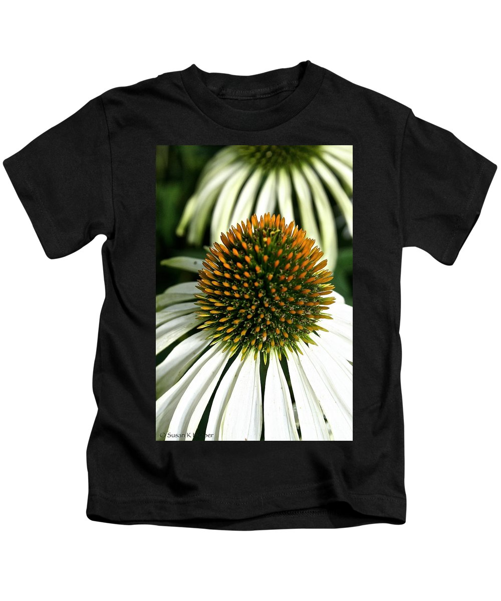 Plant Kids T-Shirt featuring the photograph White Cones by Susan Herber