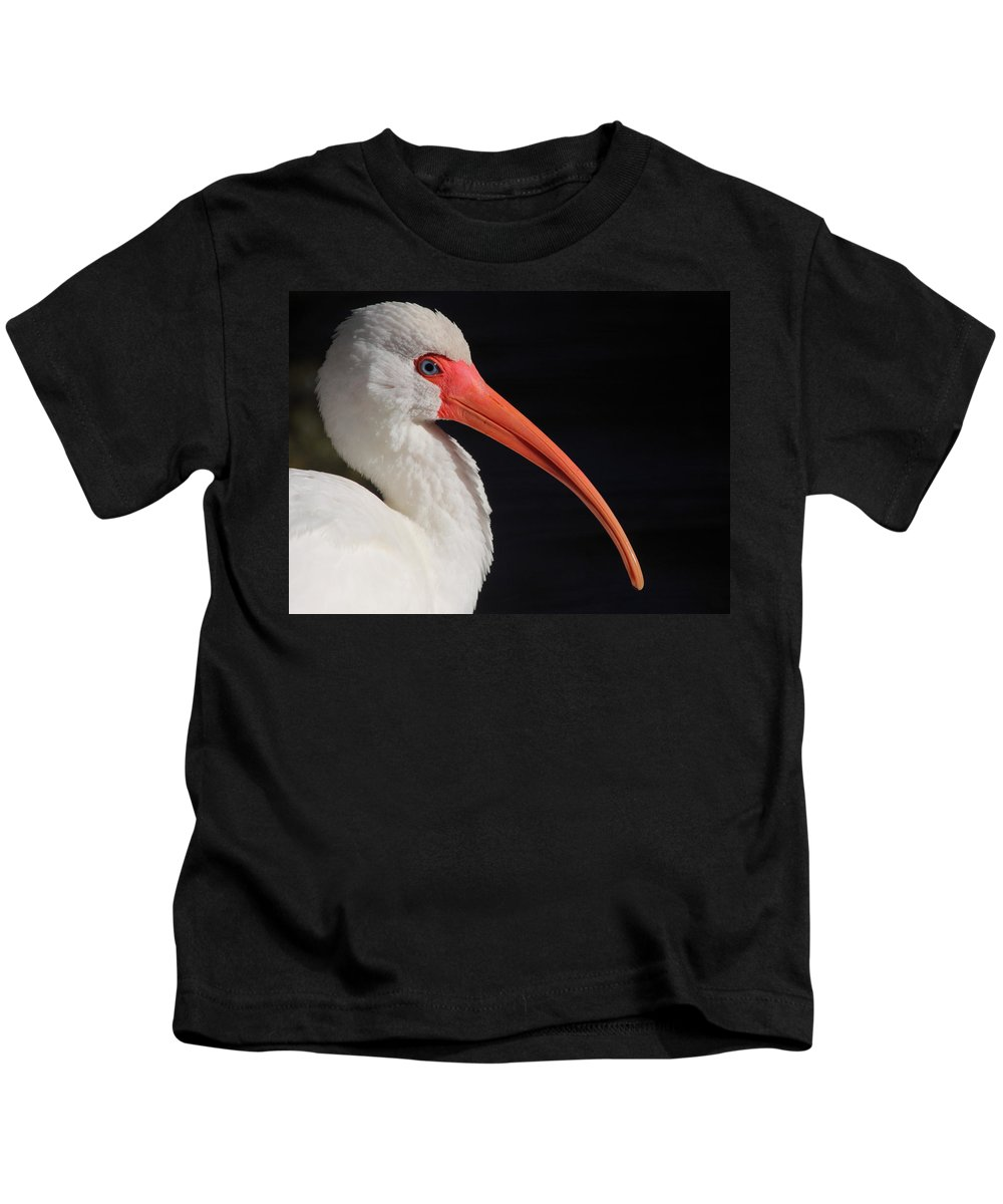 White Kids T-Shirt featuring the photograph White Ibis Portrait by Bruce J Robinson