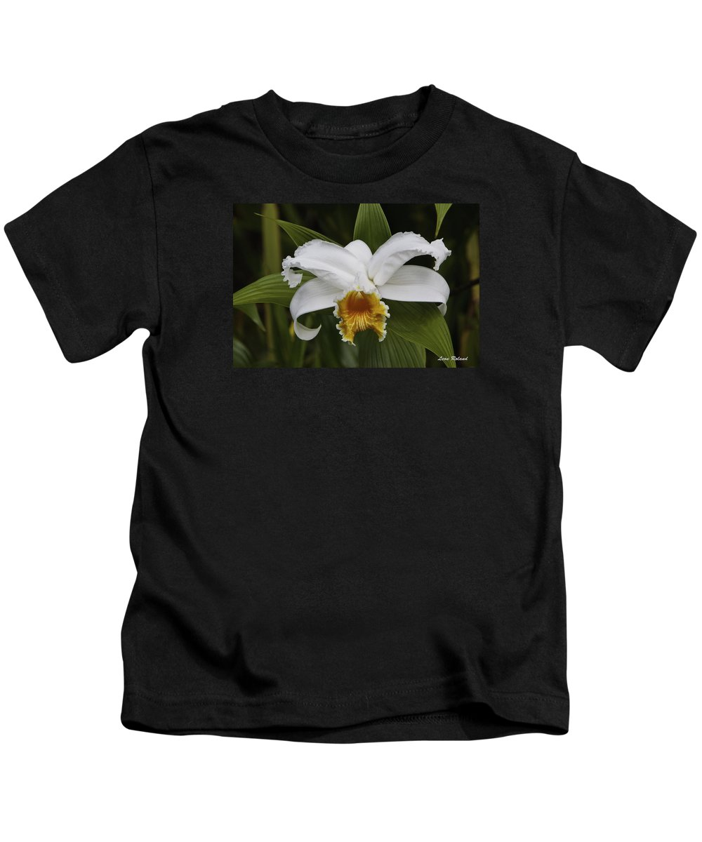 Costa Rica Kids T-Shirt featuring the photograph White Orchid by Leon Roland