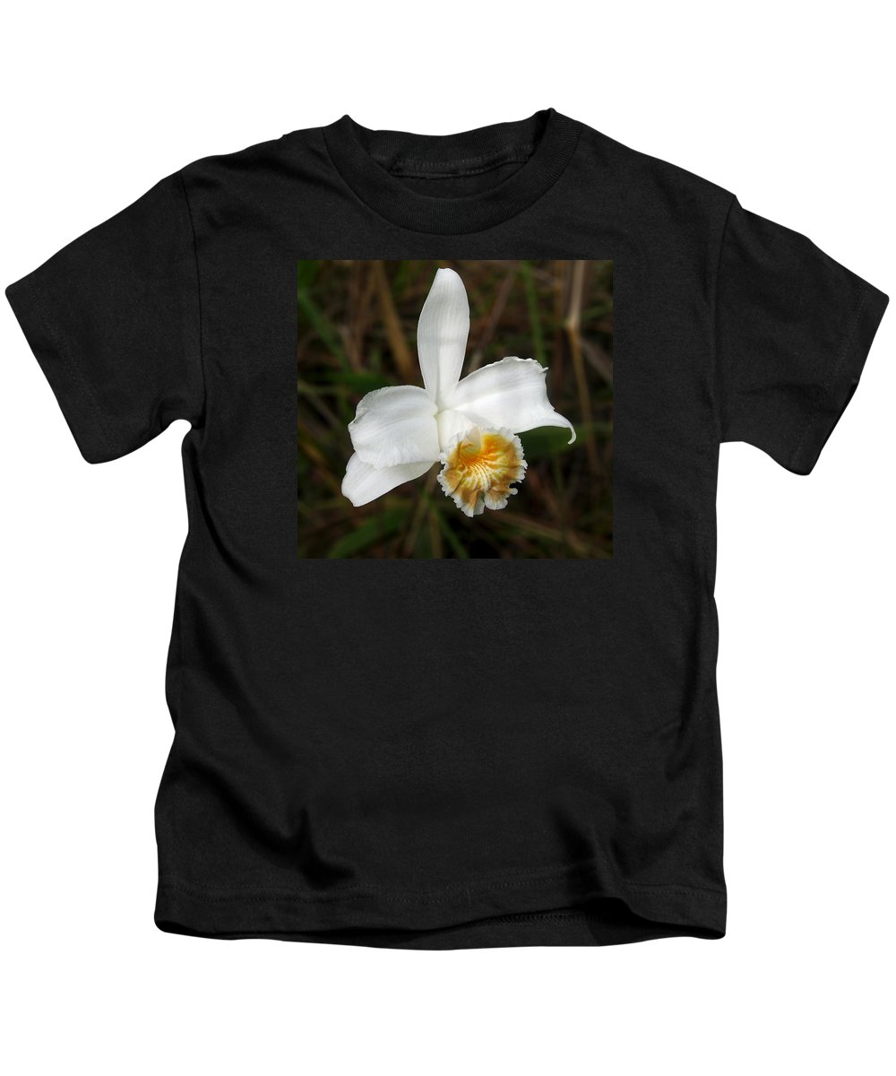 Orchid Kids T-Shirt featuring the photograph White Orchid by RicardMN Photography
