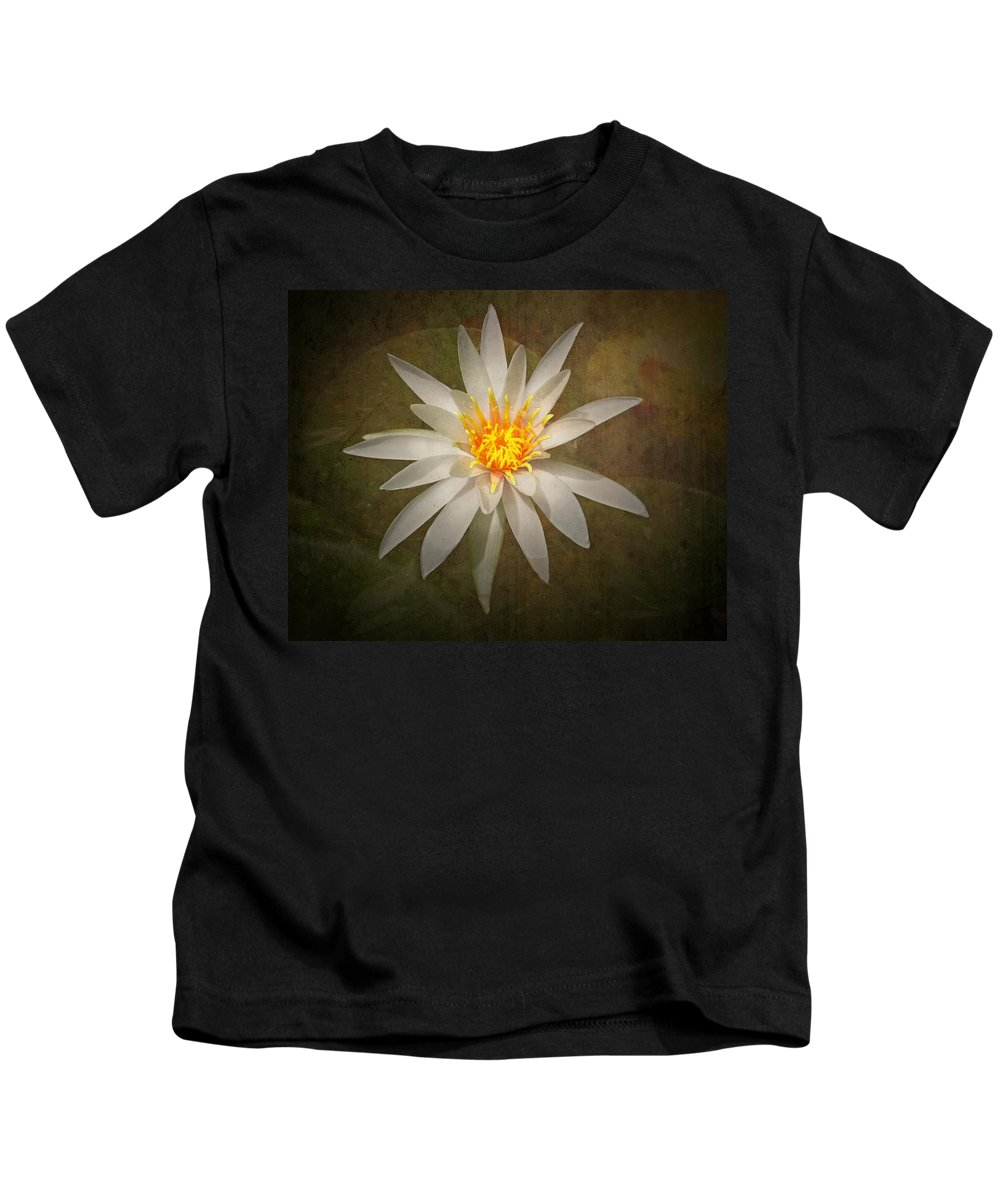 Lily Kids T-Shirt featuring the photograph White Water Lily by Rudy Umans