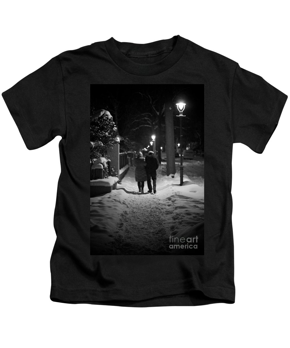 Age Kids T-Shirt featuring the photograph Winter Walk by Jannis Werner