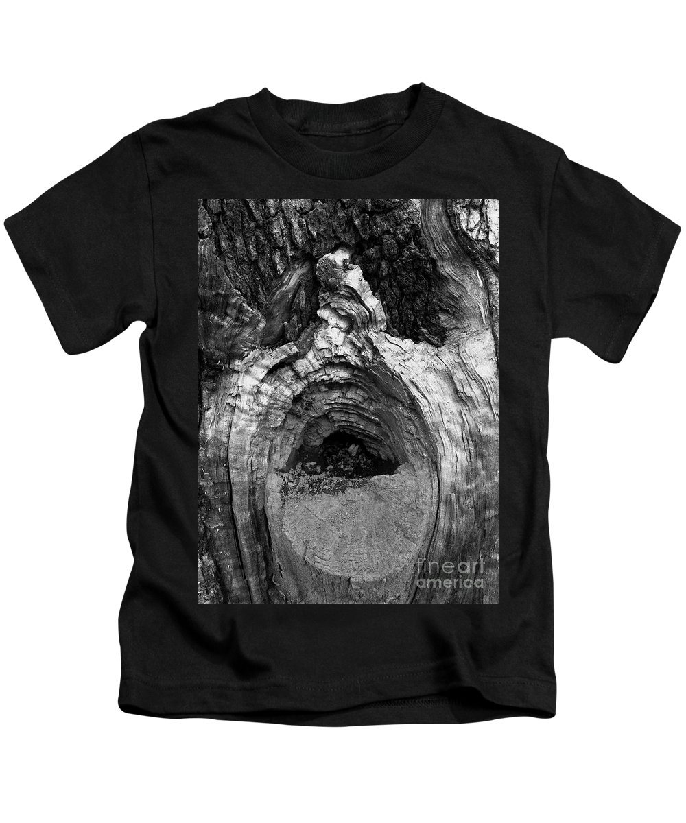 Kids T-Shirt featuring the photograph Wood You Smile by Trish Hale