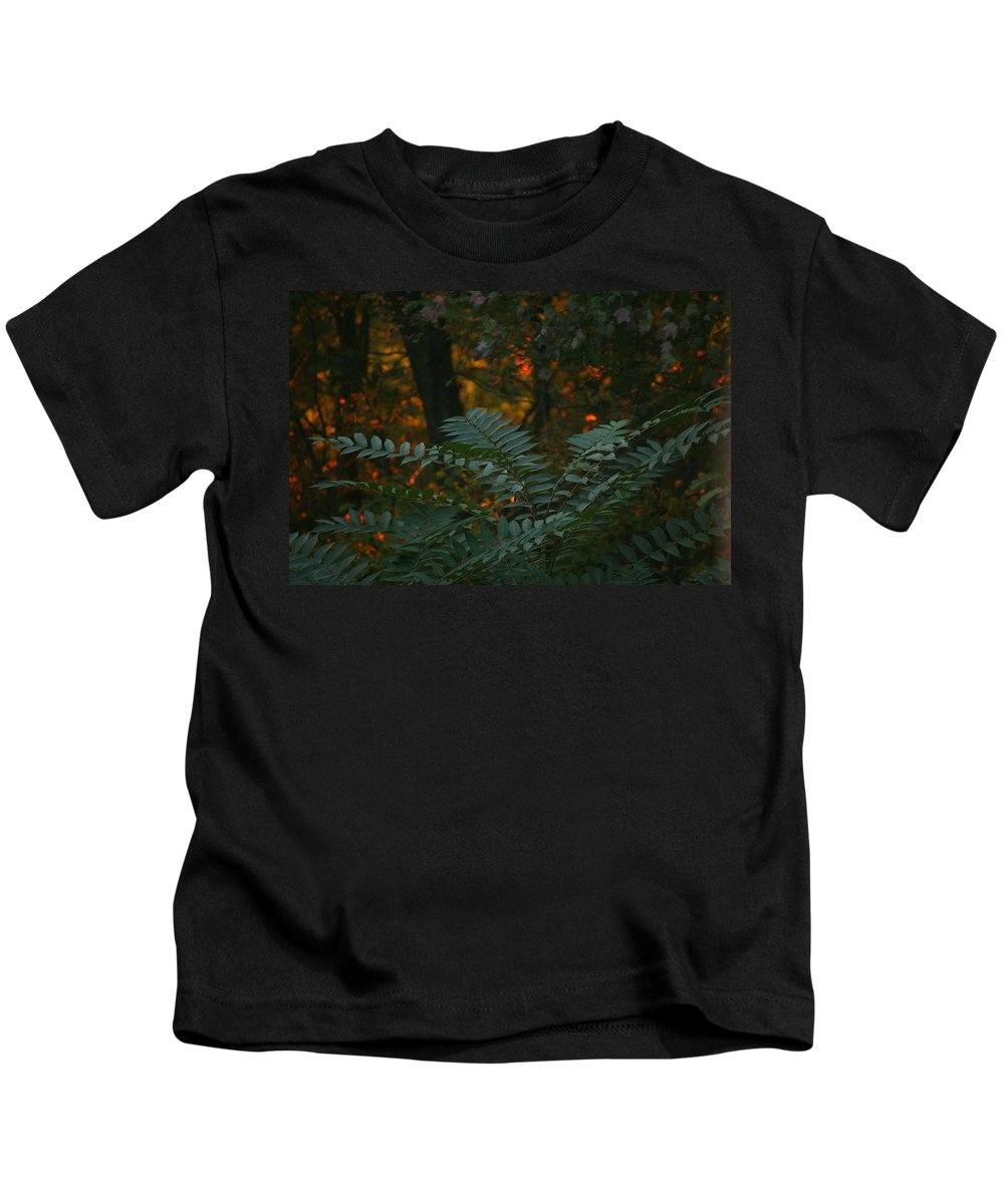 Sunset Kids T-Shirt featuring the photograph Wooded Dream by Neal Eslinger